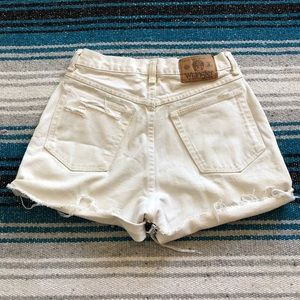 Wrangler Shorts - Vintage Wrangler High Waisted Distressed Shorts